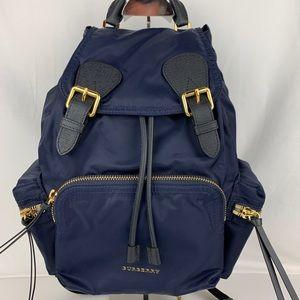 New Burberry Technical Nylon Leather Rucksack